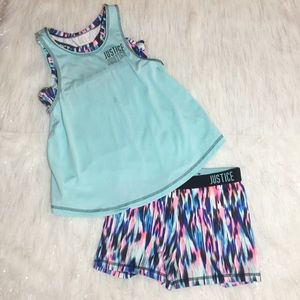 Justice for girls active wear size 10/12 3piece